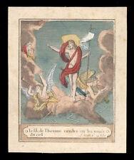 santino incisione 1800  GESU' RISORTO
