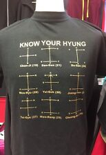 Men's 'Know Your Hyung' Black Small Taekwon Do TKD T Shirt