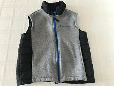 Free Country Womens Medium (10-12) Gray/Black Vest Knit Front/Back TS0 CM0