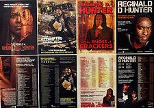 REGINALD D HUNTER TOUR FLYERS x 8 - 2017 2015 2013 & 2011 TOURS