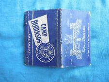 WWII home front matchbook cover/postcard Camp Robinson Ark