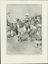 1904 Antique Print - RUSSO-JAPANESE WAR Cossack Mukden Uniform Officer Wife (44)