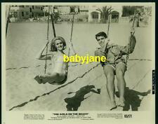 NOREEN CORCORAN MARTIN WEST VINTAGE 8X10 PHOTO 1965 ON SWINGS IN BATHING SUITS