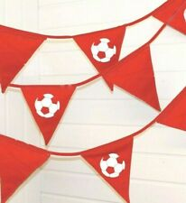 Football Bunting 5 and 10 Metres Liverpool / Man City football party decoration