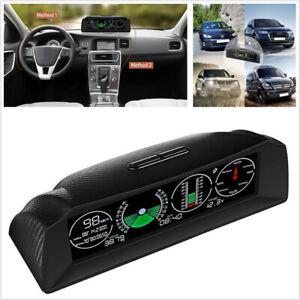 Multi-function Car Inclinometer Gradient Smart GPS Slope Meter Over Speed Alarm