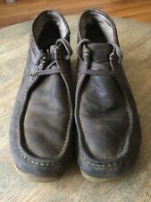Clarks DISTRESSED Soft Oiled Leather Chukka Desert Ankle Mocs Boots Men's 11.5