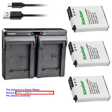 Kastar Battery Dual Charger for Nikon EN-EL12 MH-65 Nikon Coolpix S1200pj Camera