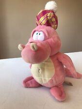 Keel Toys Pink Loch Ness Monster Plush 13� W/Scottish Pompom Plaid Hat