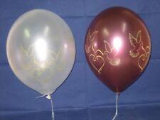 Metallic-Luftballon mit Taubendruck - 6 Stück - Hochzeitsballons - edle Ballons