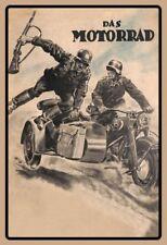 Das Motorrad Deutsche Kradmelder Soldaten Schild Tin Sign 20 x 30 cm FA0559