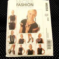 McCalls 6253 Womens Fashion Accessories Belts Scarves Necklaces Epaulettes Uncut