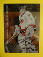 1999-2000 IN THE GAME ARTURS IRBE MILLENIUM SIGNATURE SERIES AUTOGRAPHED CARD