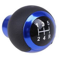 New Blue 5 Speeds Car Gear Stick Shift Knob Universal Maunal Shifter Lever Cover