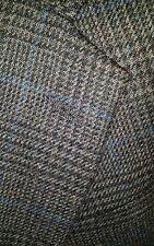 Nautica 38S Glen Plaid Fleck Blue Gray Tweed HAIRY Jacket Blazer Wool Sport Coat