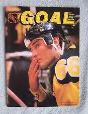 MARIO LEMIEUX COVER 1988 GOAL MAGAZINE LA KINGS PROGRAM NOV 12 1988