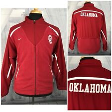 Nike Mens Fleece Jacket Coat Oklahoma University Sooners Full Zip Red Sz Small