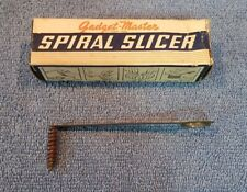 VTG  POPEIL BROS. GADGET-MASTER SPIRAL SLICER FOR POTATOES, CARROTS, ETC. & BOX