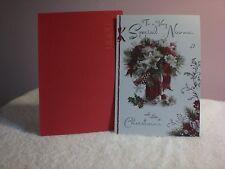 For Arts Sake - Christmas Card for Nanna - A Bouquet Christmas Flowers