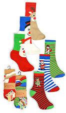 Childrens Christmas Socks New Boys Girls Xmas Gift Cotton Rich Ankle Socks 3PK