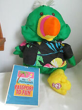 "1987 Fisher Price Puffalumps Toucan Bird with RARE!  ""Passport To Fun""  Insert"