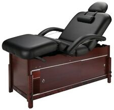 "New Master Massage Black 30"" Cabrillo Stationary Spa Adjustable Massage Table"