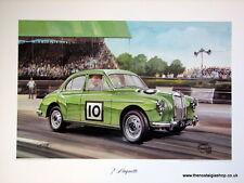 MG Magnette. Vintage Car Print. MG Print.