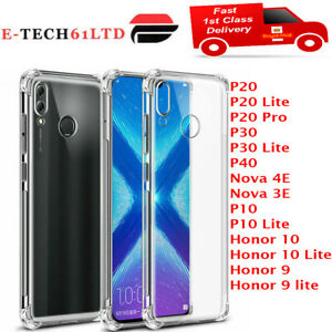 CLEAR Case For Huawei P20 P30 Pro Lite Mate Smart Cover Shockproof Silicone Gel