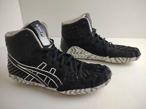 Asics Aggressor 4 Womens US 8.5 EUR 40.5 Black Wrestling Shoes (1081A001)