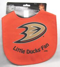 NHL NWT INFANT ALL PRO BABY BIB - ALL ORANGE - ANAHEIM DUCKS