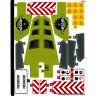 Lego Genuine Technic 42080 Forest Machine Sticker Sheet Decals Logo - NEW