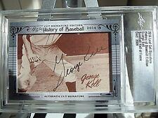 George Kell Auto 2014 Leaf History of Baseball Detroit Tigers Hall of Fame