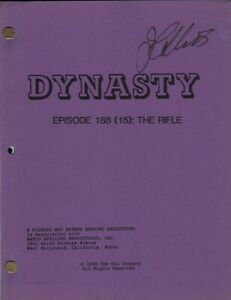 JOAN COLLINS - Original DYNASTY Script - THE RIFLE 1987 - PERSONALLY SIGNED