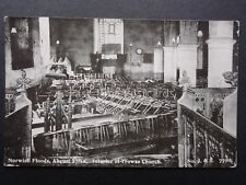 Norfolk NORWICH FLOODS Interior of TROWES CHURCH August 27th 1912 by J&S 7790