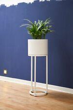 """Blumentopf auf Ständer, mit Beinen, Füßen """"Elevate Round"""" 79 cm, Weiß"""