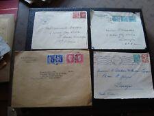 FRANCE - 4 enveloppes 1944/1945/1945/1947 (B16)