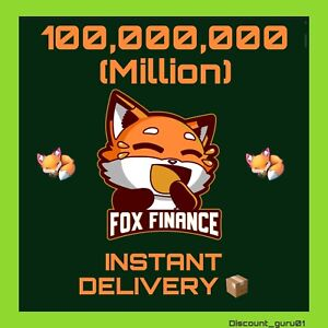100,000,000 FOX 🦊 - Crypto Mining, INSTANT DELIVERY 📦
