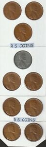 1940 S   thru  1955 S    ~  nicely  circulated ~   16  coin  LINCOLN  CENT SET