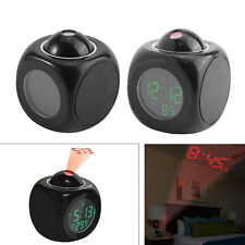 Plastic Digital Snooze Alarm Clock Display Temperature LED Laser Wall Projector