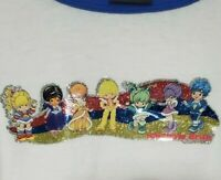 VINTAGE 90s CHANGES Rainbow Brite blue ringer tee t-shirt XL glitter COLOR KIDS