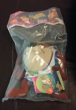 "New 1996 McDonald's Happy Meal Toy Space Jam Taz Plush Toy 7"" Warner Bros."