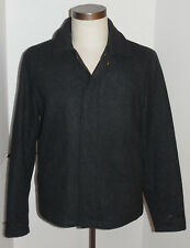 J CREW CHARCOAL GRAY WOOL JACKET! QUILTED LINING! ZIPPER FRONT! CLASSIC STYLE! S