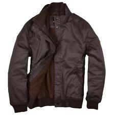Ben Sherman Herren Jacke Jacket Bomberjacke Gr.S Fleece-Futter Waxed Braun 79709