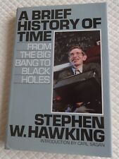 A Brief History of Time by Stephen Hawking - Hardback 1st Edition reprint -1990