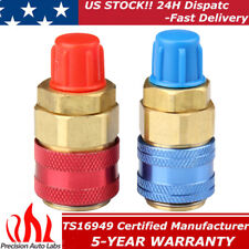 2x R134a Quick Connector Adapter Coupler Auto Ac Manifold Gauge Lowhigh Hvac
