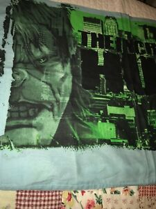 The Incredible Hulk Standard Pillowcase Cotton Blend Bedding Linens Bed Comics