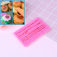 Brick Wall Impression Emboss Mat Cutter Fondant Sugarcraft Cake Decorating DI fq