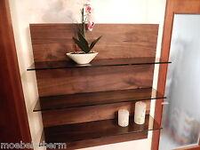 Wandboard Nussbaum Massiv Holz Board Regal Glasregal Regalbrett NEU au.auf Maß !