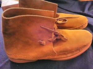 Genuine Cherokee Indian Ladies Sz 9 High Top Leather Moccasins 1960s & NIB Shoes