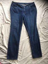 LEE RIDERS 38x32 Relaxed Ladies Jeans Mid Blue Taper Leg Vgc