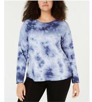 New Women's Calvin Klein Plus Size Solitaire Combo Tie Dyed T-Shirt Sz 2X